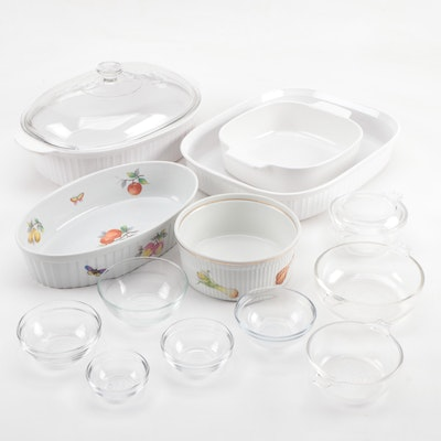 "Corning Wear ""French White"" Bakeware with Pyrex Bowls and More"
