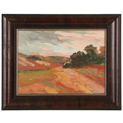 "Juan Guzman-Maldonado Abstract Landscape Oil Painting, ""Carmel"""