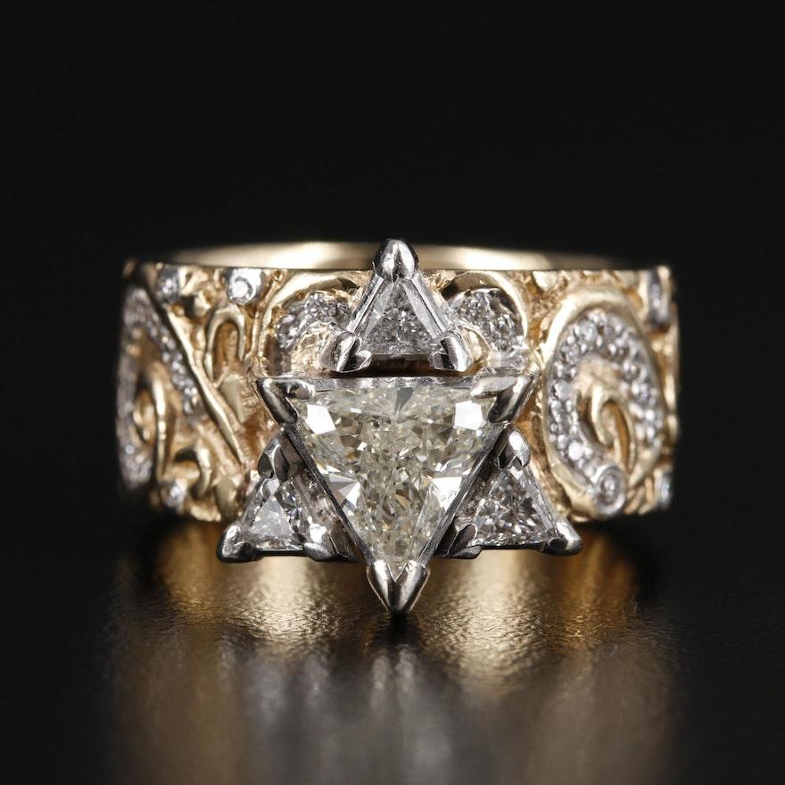 14K Gold 1.88 CTW Diamond Ring