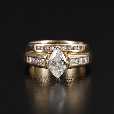 14K Gold 1.09 CTW Diamond Ring