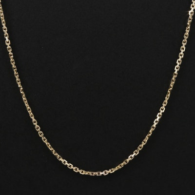 14K Cable Link Chain Necklace