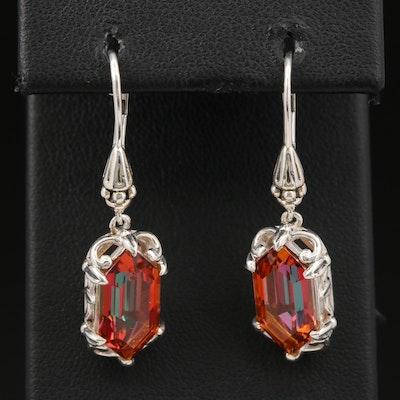Sterling Silver Quartz Dangle Earrings