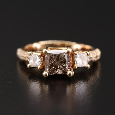14K Gold 1.45 CTW Diamond Ring