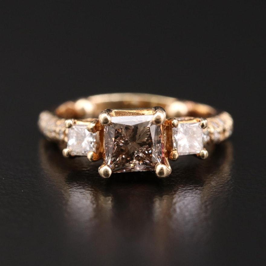 14K Gold 1.45 CTW Diamond Ring