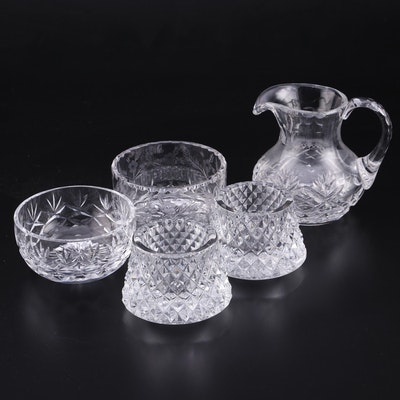 American Cut Crystal Creamer, Open Sugar Bowls, and More