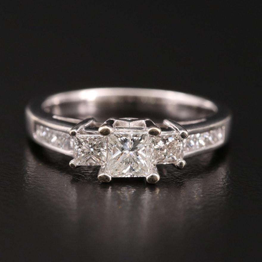 14K Gold 1.08 CTW Diamond Ring
