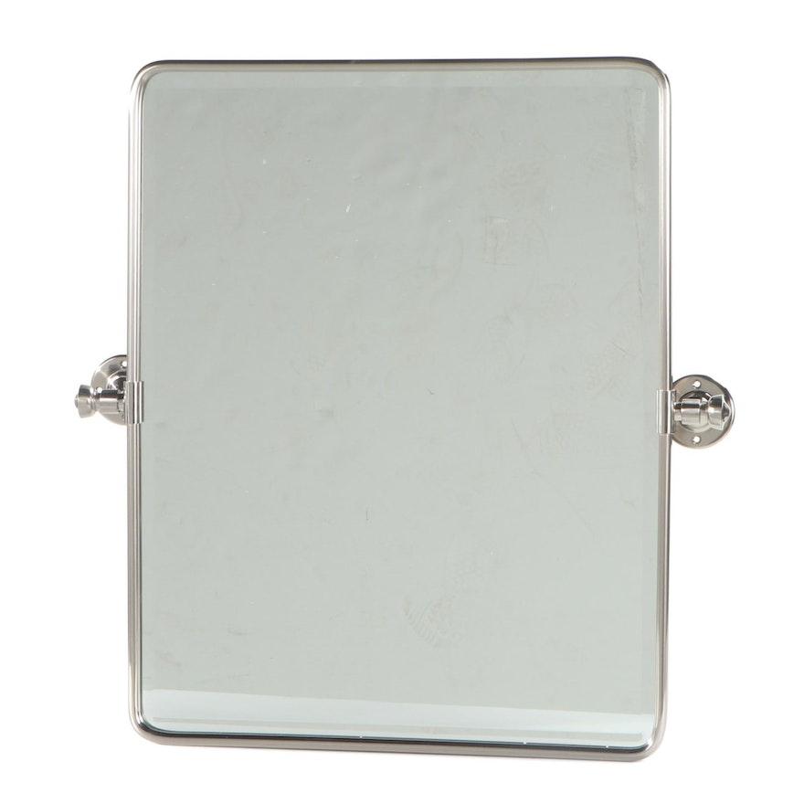 Williams-Sonoma Brushed Nickel Rectangular Pivot Mirror