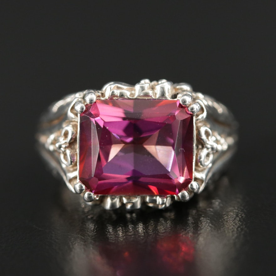 Sterling Silver Quartz Ring
