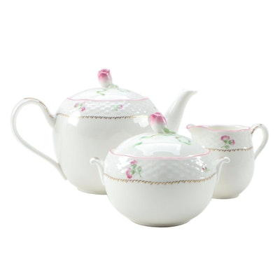 "Lenox ""Petite Suite"" Bone China Tea Set, Late 20th Century"