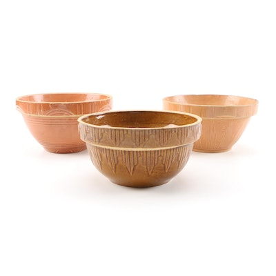 American Earthenware Mixing Bowls, Mid to Late 20th Century