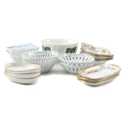 Andrea by Sadek Pierced Rim Butter Pats and Other Porcelain Serveware