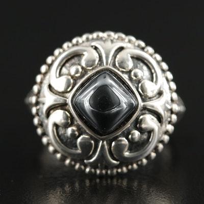 Sterling Silver Hematite Ring