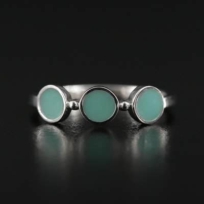 Sterling Silver Enamel Ring
