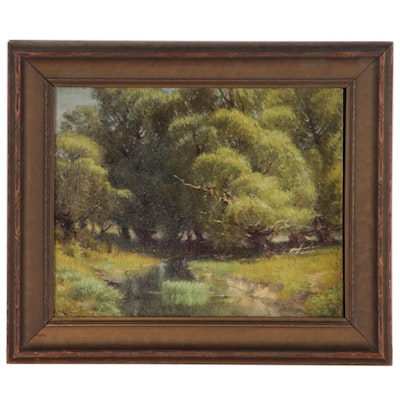 Volney Richardson Landscape Oil Painting of Creek