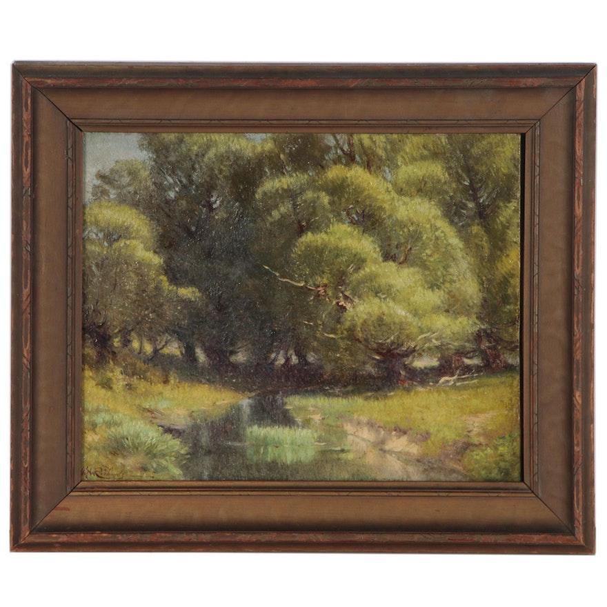 Volney Richardson Landscape Oil Painting of Creek