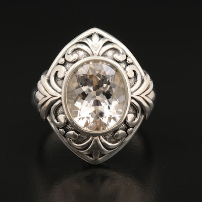 Sterling Silver Topaz Ring