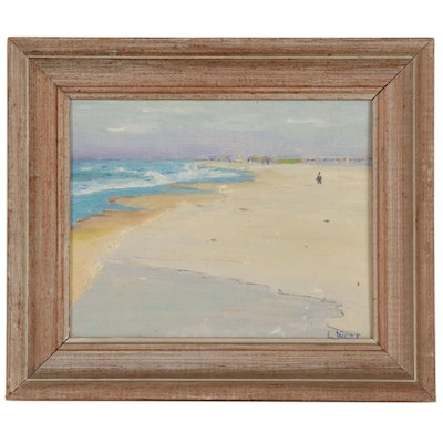 "Louise West Oil Painting ""Sand and Sea"""