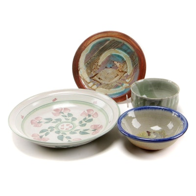 Elizabeth Saslaw and Other Earthenware Pottery Dinnerware