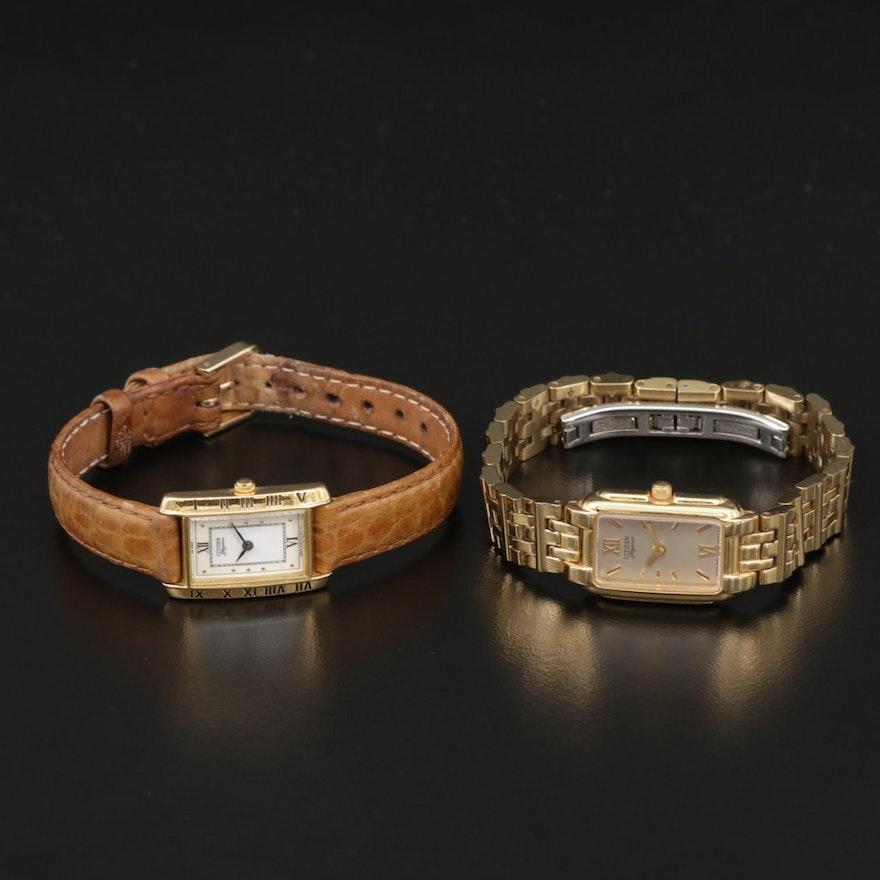 Pair of Citizen Elegance Quartz Wristwatches