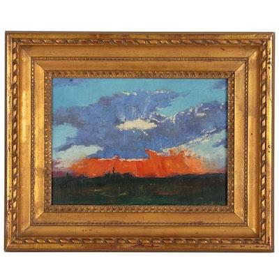 Landscape Oil Painting, Circa 1952