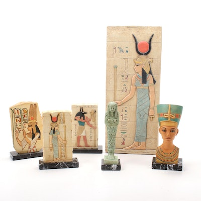 Egyptian Style Bust and Table Decor