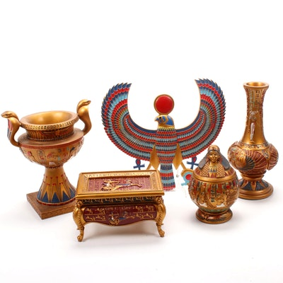 Design Toscano Egyptian Style Trinket Boxes and Table Decor