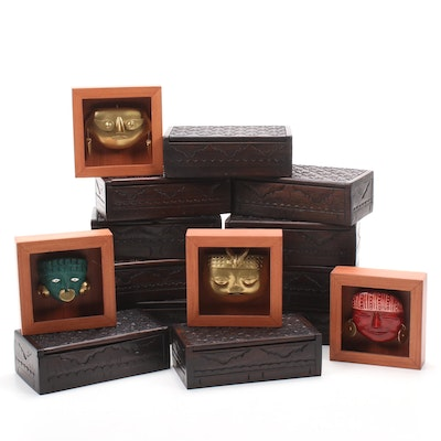 Novica Collection Jewelry Boxes and Mesoamerican Style Framed Masks