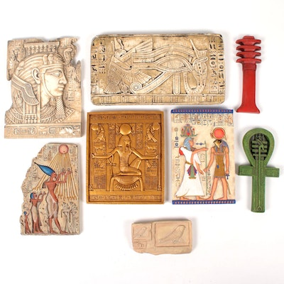 Egyptian Style Tiles and Wall Decor