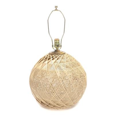 Spherical Woven Wicker Table Lamp