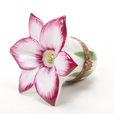 Parry Vieille French Hand-Painted Flower Limoges Box