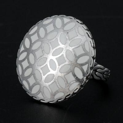 John Hardy Sterling Silver Enamel Ring