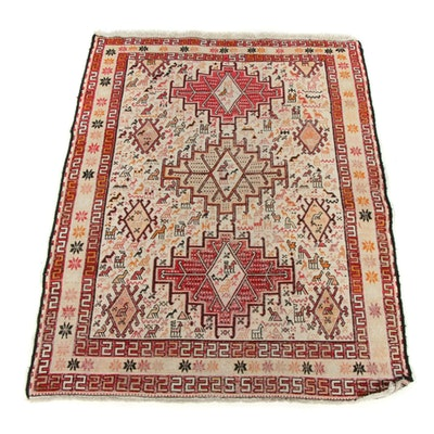 3'6 x 4'5 Hand-Knotted Caucasian Kazak Rug