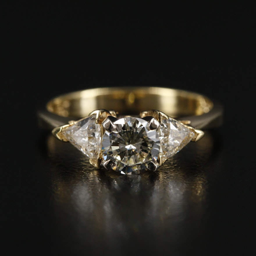18K Yellow Gold 1.03 CTW Diamond Ring