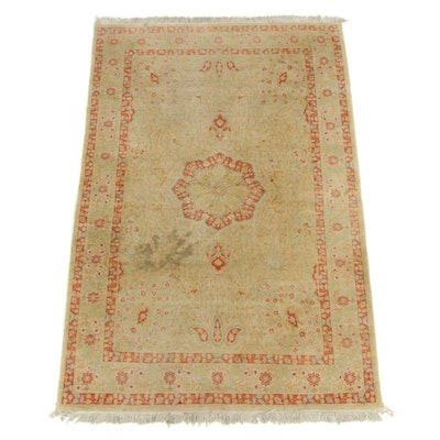 4'0 x 6'5 Hand-Knotted Persian Tabriz Rug