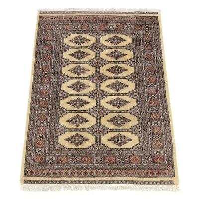 4'1 x 5'11 Hand-Knotted Pakistani Turkoman Rug
