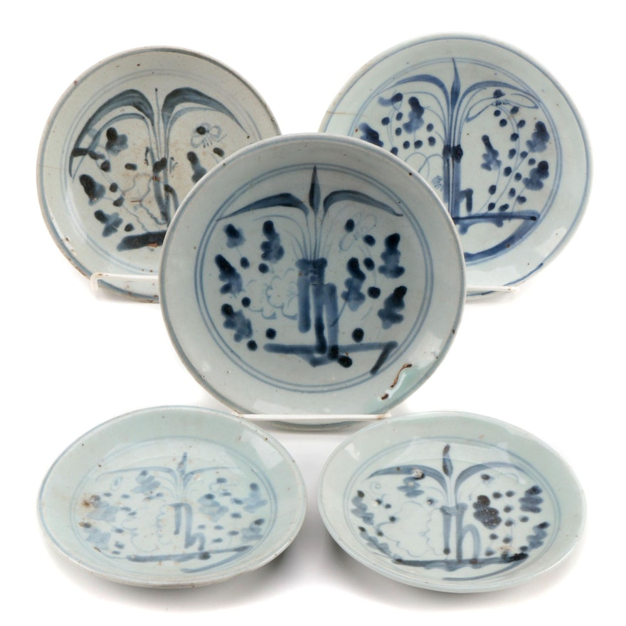 East Asian Glazed Ceramic Plates