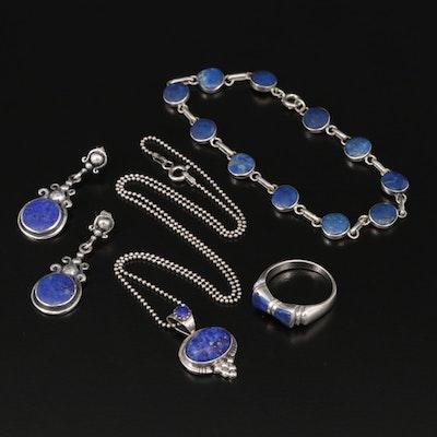 Sterling Silver Lapis Lazuli Jewelry