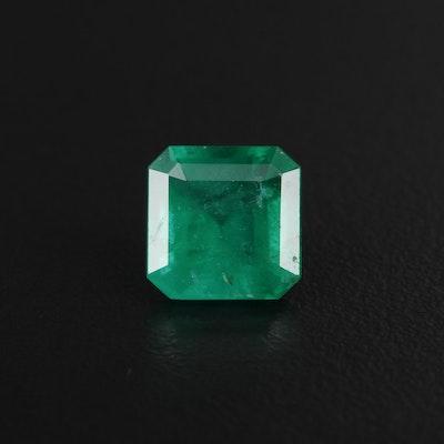 Loose 3.01 CT Brazilian Emerald Gemstone with GIA Report
