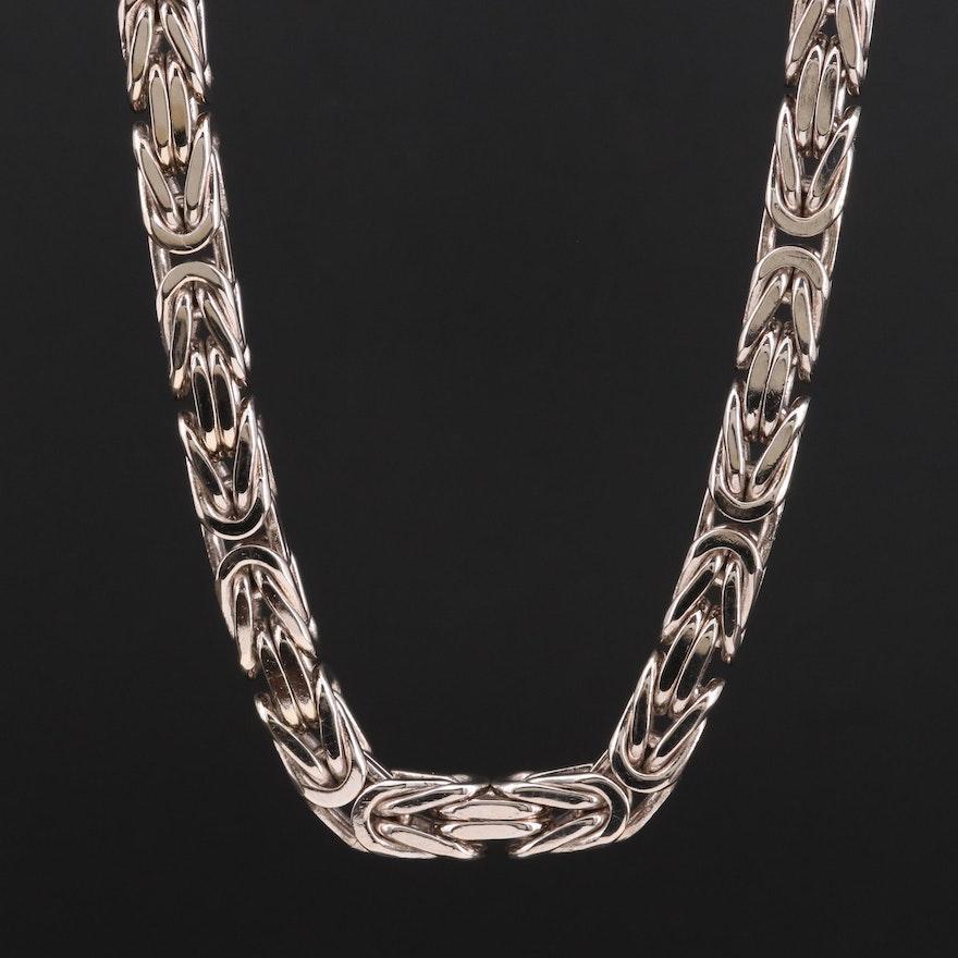 14K Gold Byzantine Chain Necklace