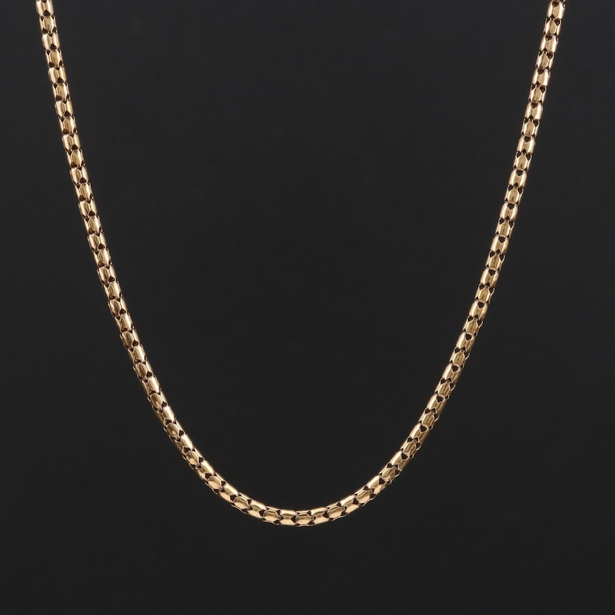 18K Yellow Gold Fancy Chain Necklace