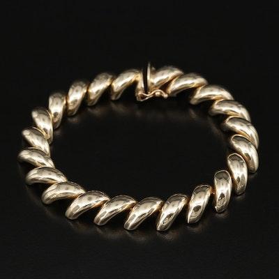 14K Gold San Marco Chain Bracelet