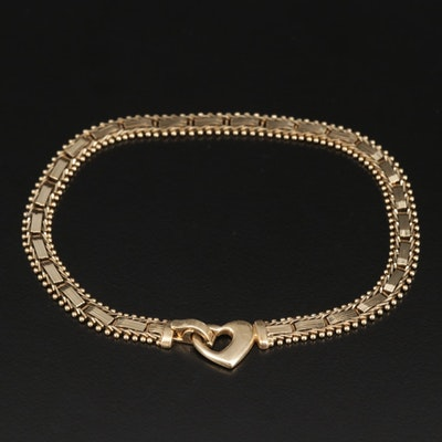 14K Yellow Gold Riccio Link Anklet