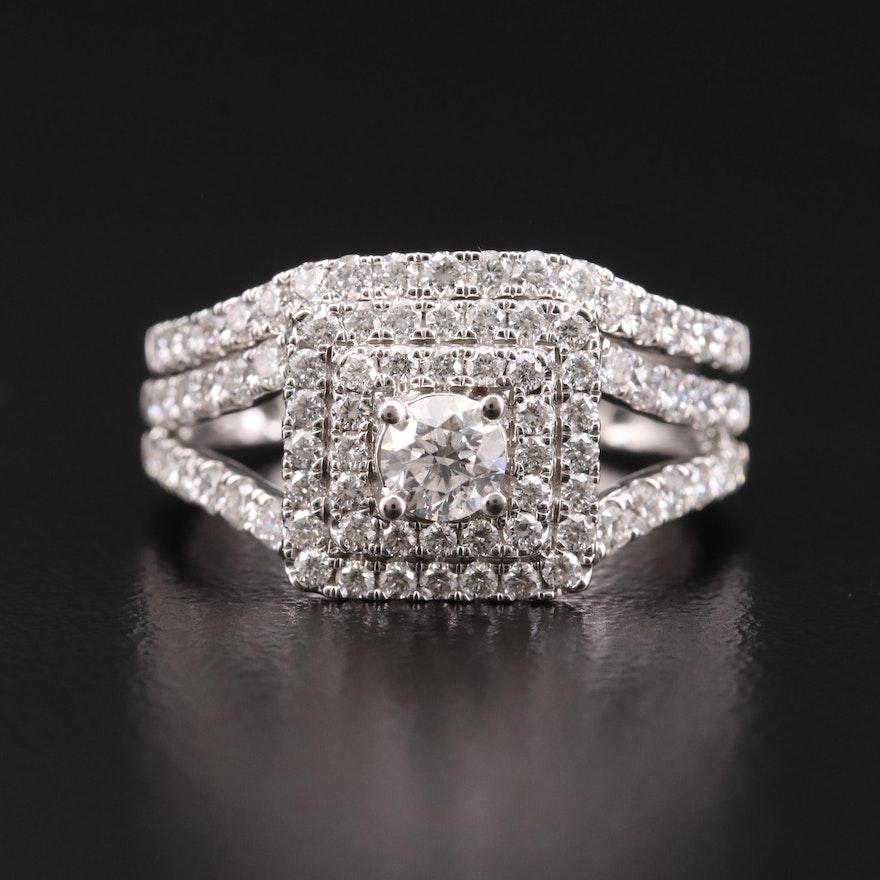 14K Gold 1.21 CTW Diamond Ring Set