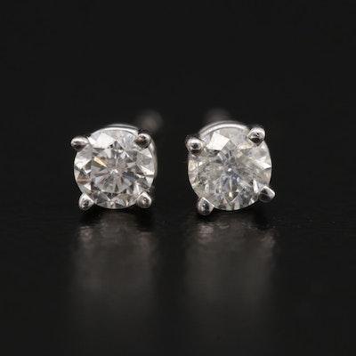 14K Gold 0.27 CTW Diamond Stud Earrings