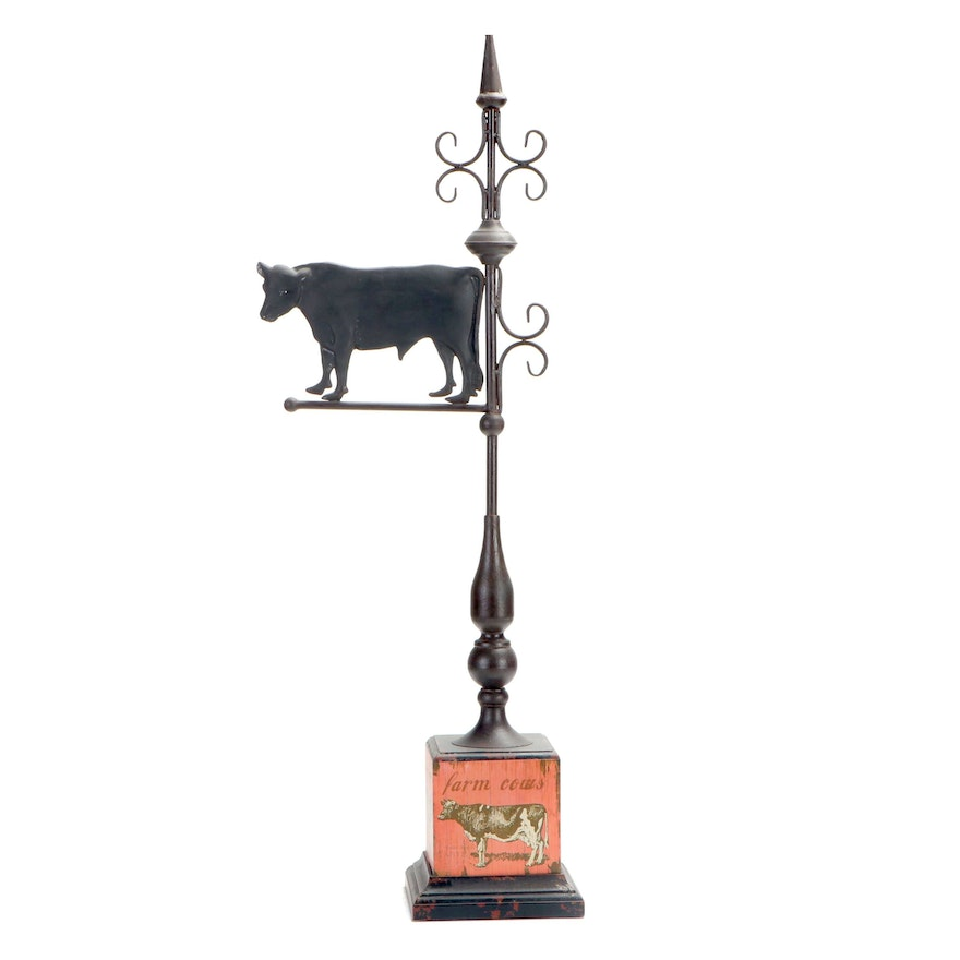 Imax Corporation Farm Cows Standing Lawn and Garden Weather Vane