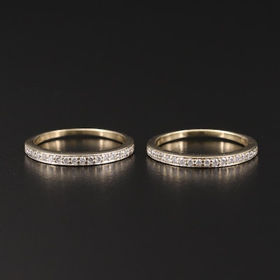 14K Gold Diamond Bands