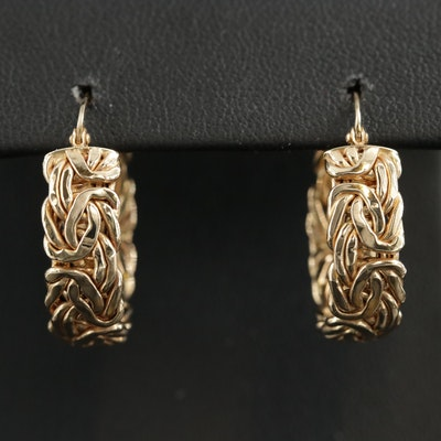 14K Byzantine Hoop Earrings