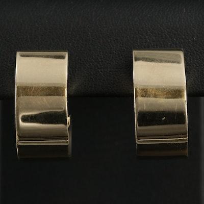 14K J Hoop Earrings
