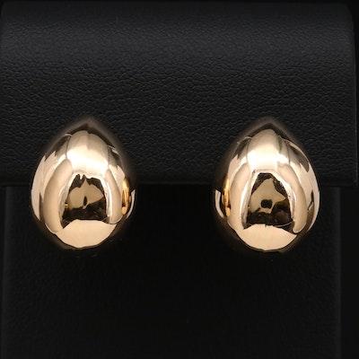 Hana 14K Yellow Gold Puff Teardrop Earrings