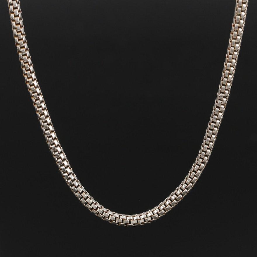 Round Box Chain Necklace